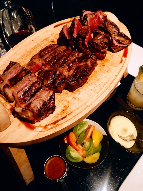 Meat sharing platter at Gaucho